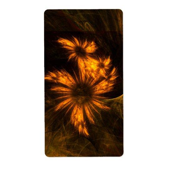 Mystique Garden Abstract Art Fractal Shipping Label