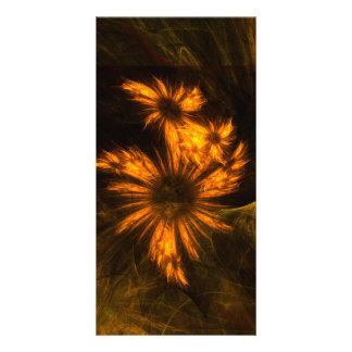 Mystique Garden Abstract Art Photo Card
