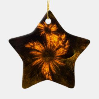 Mystique Garden Abstract Art Star Ornament