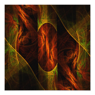 Mystique Jungle Abstract Art 13 Cm X 13 Cm Square Invitation Card