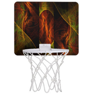 Mystique Jungle Abstract Art Mini Basketball Hoop