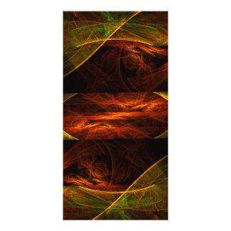 Mystique Jungle Abstract Art Photo Card