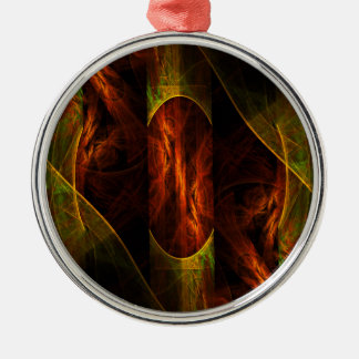 Mystique Jungle Abstract Art Round Christmas Ornament
