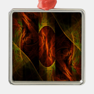 Mystique Jungle Abstract Art Square Christmas Ornament