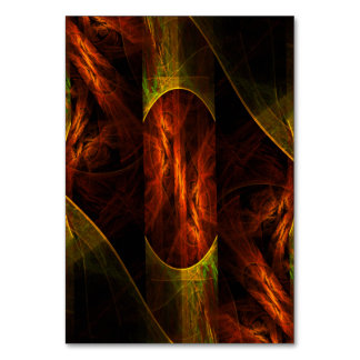 Mystique Jungle Abstract Art Table Card