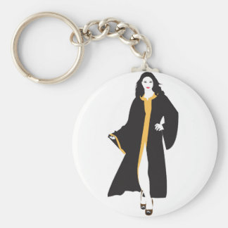 Mystique White Woman Basic Round Button Key Ring