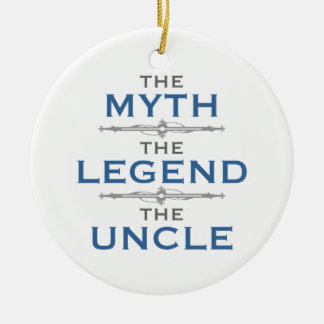 Myth Legend Uncle Round Ceramic Decoration