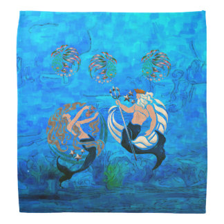 Myth of the Seas New Age Folk Art Bandana