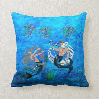 Myth of the Seas New Age Folk Art Cushion