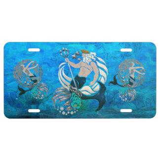 Myth of the Seas New Age Folk Art License Plate