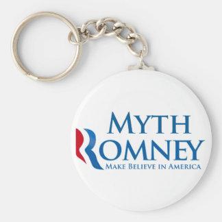 Myth Romney Basic Round Button Key Ring