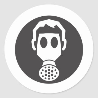 Mythbusters Gas Mask Classic Round Sticker
