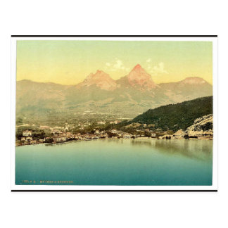 Mythen and the Brunnen, Lake Lucerne, Switzerland Postcard