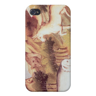 Mythical animals in the wilderness cover for iPhone 4