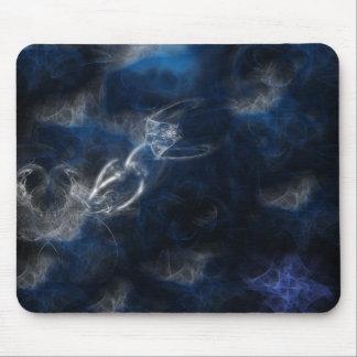 Mythical blue fractal mousepads