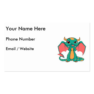 Mythical Dragon with Wings Pack Of Standard Business Cards