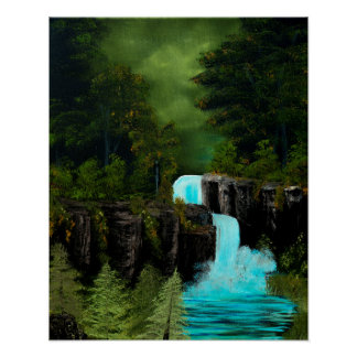 Mythical Green Fantasy Falls Poster