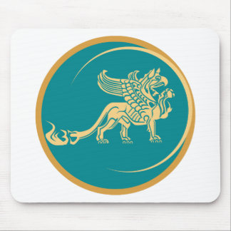Mythical Gryphon Seal Mouse Pad