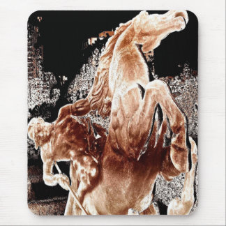 Mythical Horse Rider Mouse Pads