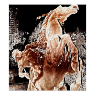 Mythical Horse Rider Poster
