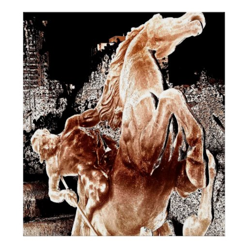 Mythical Horse Rider Posters