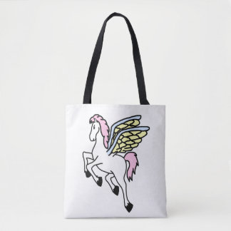 Mythical Pegasus Flying Horse Tote Bag