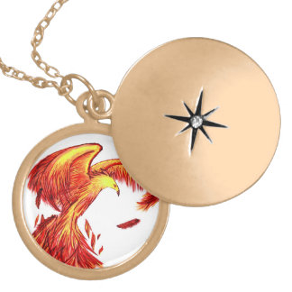 Mythical Phoenix Locket Necklace