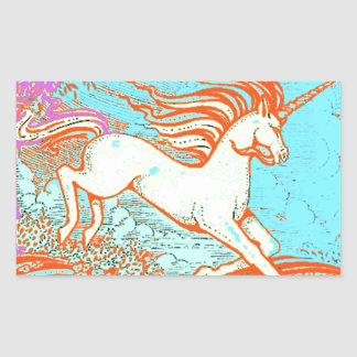Mythical Unicorn Gifts by Sharles Art Rectangular Stickers