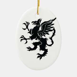 Mythological dragon christmas ornament