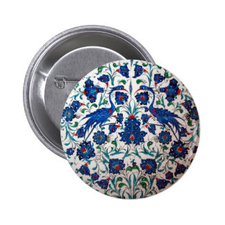 Mythological Heron Bird Design Tile Art 6 Cm Round Badge
