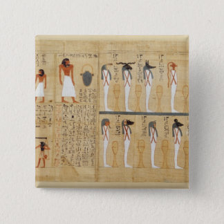Mythological papyrus of Imenemsaouf 15 Cm Square Badge