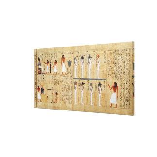 Mythological papyrus of Imenemsaouf Canvas Print
