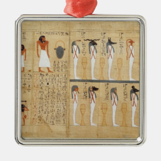 Mythological papyrus of Imenemsaouf Christmas Ornament