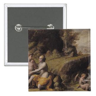 Mythological Scene 15 Cm Square Badge
