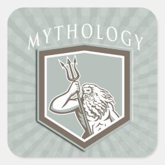 Mythology Genre Book Cover Square Sticker
