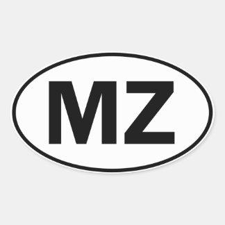 MZ Oval Identity Sign Oval Sticker