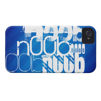 n00b; Royal Blue Stripes Case-Mate iPhone 4 Cases