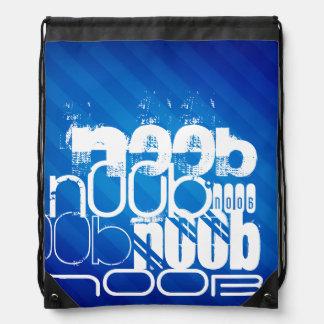 n00b; Royal Blue Stripes Drawstring Backpack