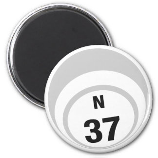 N37 bingo ball fridge magnet