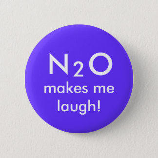 N, 2, O, makes me laugh! 6 Cm Round Badge