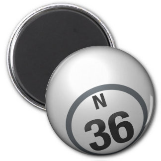 N 36 bingo ball magnet