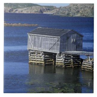N.A., Canada, Newfoundland, Durrell. Fishing Tile