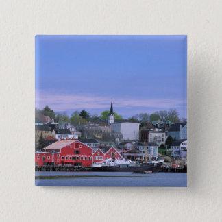 N.A. Canada, Nova Scotia. A view of Lunenburg, a 15 Cm Square Badge
