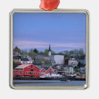 N.A. Canada, Nova Scotia. A view of Lunenburg, a Christmas Ornament