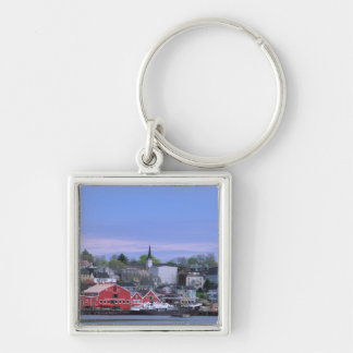N.A. Canada, Nova Scotia. A view of Lunenburg, a Silver-Colored Square Key Ring