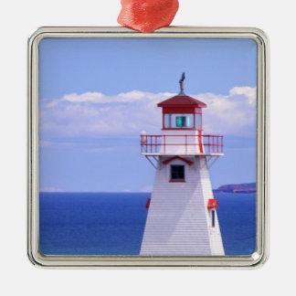 N.A. Canada, Prince Edward Island. Cape Tryon Silver-Colored Square Decoration