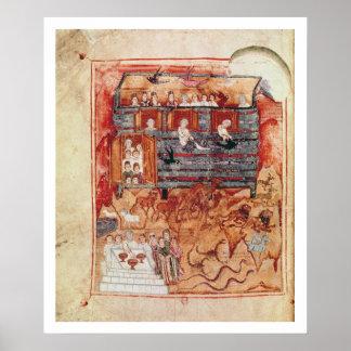N.A.L 2334 fol.10v Noah's Ark, from 'De Tours Pent Poster