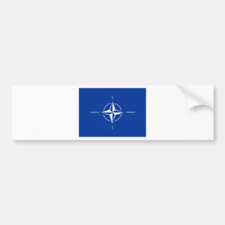 N.A.T.O. flag Bumper Sticker