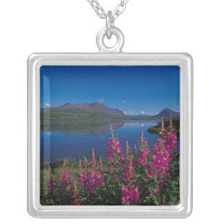 N.A., USA, Alaska, Alaska Range Common Square Pendant Necklace