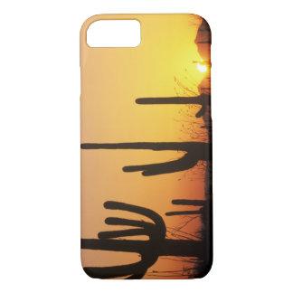 N.A., USA, AZ, Saguaro NP, Saguaro Sunset iPhone 8/7 Case